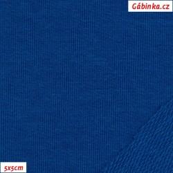 Teplákovina s EL 97/3, A - královsky modrá 1037, 5x5 cm