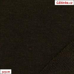 Teplákovina s EL 97/3, A - tmavě hnědá 1020, 5x5 cm