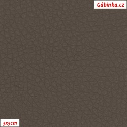 Koženka, hnědo šedá, SOFT 27, šíře 140 cm, 10 cm