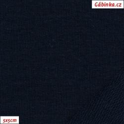 Teplákovina s EL 90/10, B - tmavě modrá 2166, šíře 180 cm, 10 cm, ATEST 1