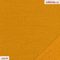 Teplákovina s EL 90/10, B - Hořčicová 1844, šíře 180 cm, 10 cm, ATEST 1