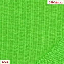 Teplákovina s EL 90/10, B - Jasně zelená 844, šíře 180 cm, 10 cm, ATEST 1