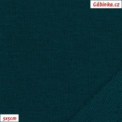 Teplákovina s EL 90/10, B - Zelený petrolej 677, ATEST 1, 5x5 cm