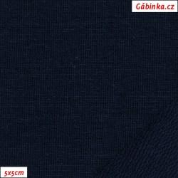 Teplákovina s EL 97/3, A - tmavě modrá 1024, šíře 165 cm, 10 cm, ATEST 1