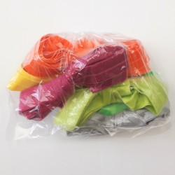 Balíček zbytků - Lemovací gumy půlené, světlé barvy, 1-2,8 m