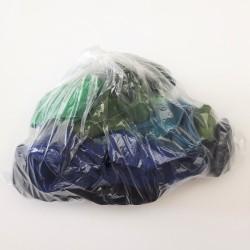Balíček zbytků - Lemovací gumy půlené, tmavé barvy, 1-2,65 m