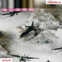 Úplet s EL Digitální tisk - Sky Is The Limit - Letadla v zašedlých mracích, 15x15 cm