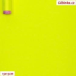 Úplet BA-PES-EL, C - NEON žlutý 5003, 200 g, 15x15 cm