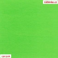 Úplet s EL, B - Jasně zelený 0844, 260 g, šíře 180 cm, 10 cm, ATEST 1