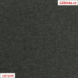Úplet s EL, B - Tmavě šedý melír 2194, 260 g, šíře 180 cm, 10 cm, ATEST 1