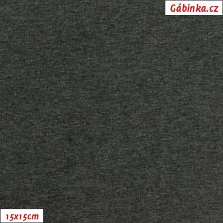 Úplet s EL, B - Tmavě šedý melír 2194, 15x15 cm