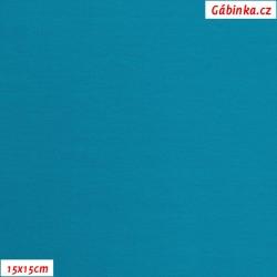 Úplet s EL, B - Tyrkysově modrý 0615, 260 g, šíře 180 cm, 10 cm, ATEST 1