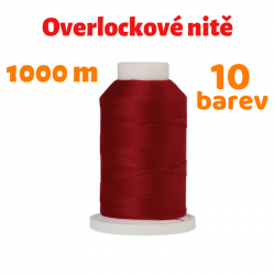 Universální overlocková nit - Amann Mettler SERACOR 120 PES, 1000 m, ATEST 1