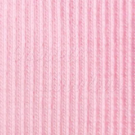náplet žebrový, světle růžový