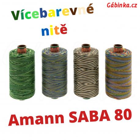 Universální nitě - Amann SABA MULTICOLOUR 80 PES, 1000 m, ATEST 1