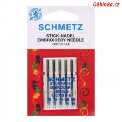 Jehly Schmetz - EMBROIDERY 130/705 H-E, 75-90, 5 ks