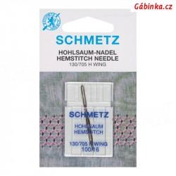 Jehla Schmetz - HEMSTITCH 130/705 H WING, 100, 1 ks - blistr