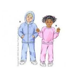 Střih na dětskou teplákovou soupravu