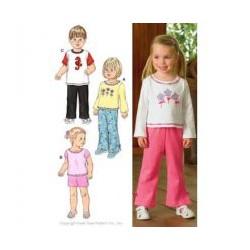 Střih na dětské tričko, kalhoty a šortky 3424