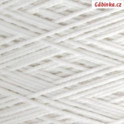 Pruženka na roušky - kulatá, bílá, průměr 2 mm, 1 m