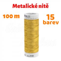 Vyšívací lesklá metalická niť - Amann Mettler METALLIC 40, 100 m