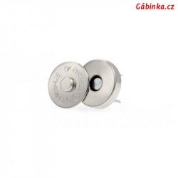 Magnetické zapínání - kulaté menší, průměr 15 mm, 1 ks