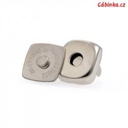 Magnetické zapínání - čtverec, 13x13 mm, 1 ks