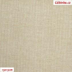 Plátno - Lněná půda béžová, 15x15 cm