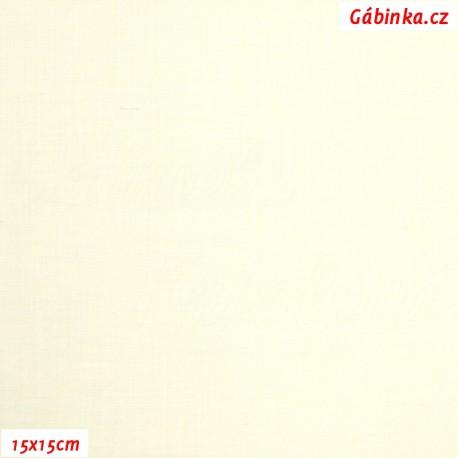 Plátno - Světle žluté vánoční, 15x15 cm