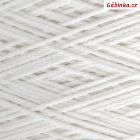 Pruženka na roušky - kulatá, bílá, průměr 2 mm, 10 m