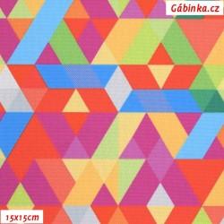 Kočárkovina Primax, Trojúhelníky barevné, 15x15 cm
