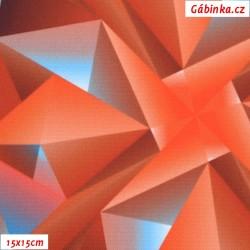 Kočárkovina Primax, Krystaly velké oranžové, 15x15 cm