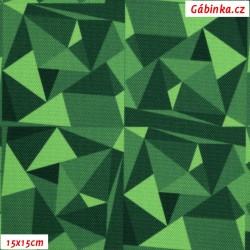 Kočárkovina Primax, Krystaly MINI zelené, 15x15 cm