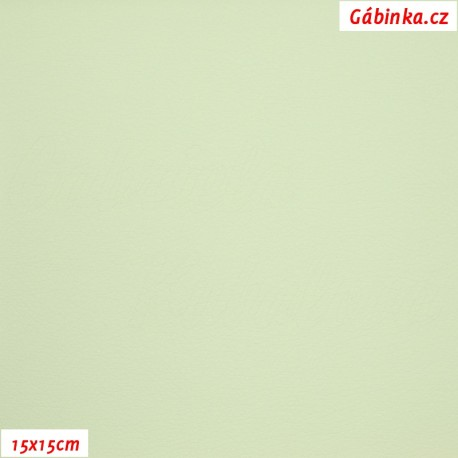 Koženka SOFT 18 - Světlounce zelená, 15x15 cm