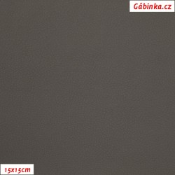 Koženka SOFT 26 - Středně šedá, 15x15 cm