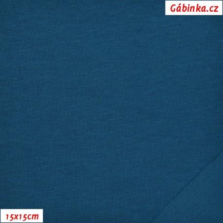 Teplákovina s EL 95/5, C - petrolejová 25, 15x15 cm