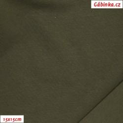 Úplet s EL, C - Khaki 47, 190 g, šíře 180 cm, 10 cm, ATEST 1