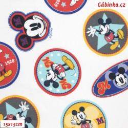 Plátno - Mickey-Mouse barevný na bílé, LICENCE, 15x15 cm