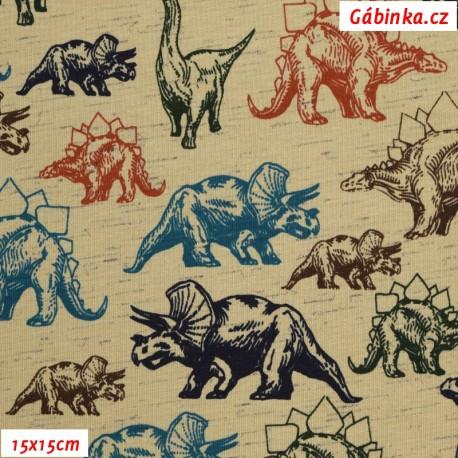 Úplet s EL POPPY - Dinosauři na pískovém melíru, 15x15 cm
