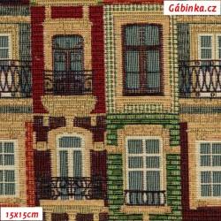 Dekorační látka - Barokní balkony, 15x15 cm