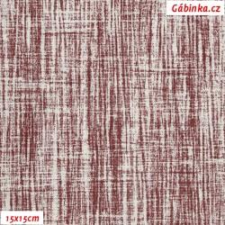 Režné plátno - Vínový melír, 15x15 cm