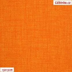 Režné plátno - Jasně oranžové, 15x15 cm