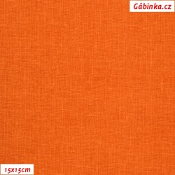 Režné plátno - Tmavě oranžové, šíře 140 cm, 10 cm