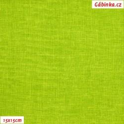 Režné plátno - Jasně zelené, 15x15 cm