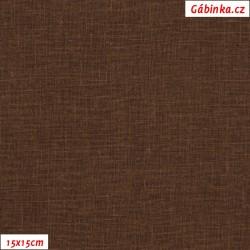 Režné plátno - Hnědé, 15x15 cm