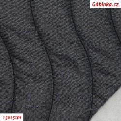 Prošev - Modrošedé vlny + vatelín, 15x15 cm