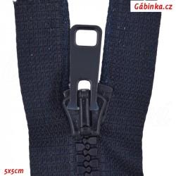 Kostěný zip dělitelný, délka 55 cm, 39 Námořnicky modrý