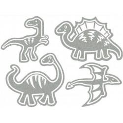 Reflexní nažehlovací potisk - Dinosauři I (4 ks)