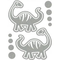 Reflexní nažehlovací potisk - Dinosauři IV (2 ks)