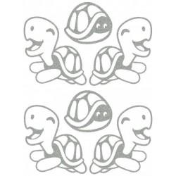 Reflexní nažehlovací potisk - Želvičky I (4+2 ks)